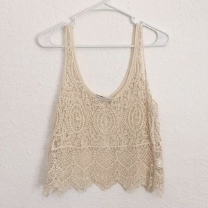 Tops - Lace Tank Crop Top