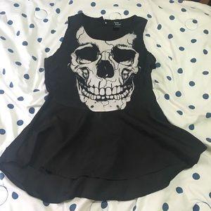 Peplum Skull Shirt