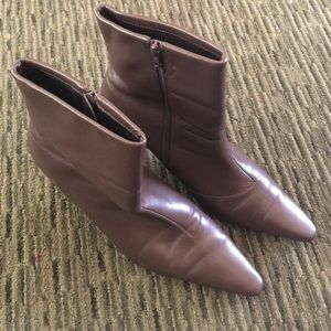 Shoes - Leather Heeled Boots