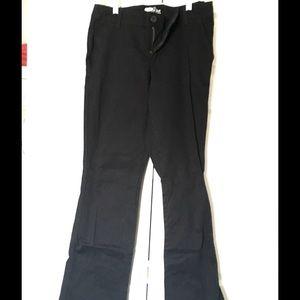 Old Navy Pants - Old Navy The Diva Black Khaki Pants Size 10R