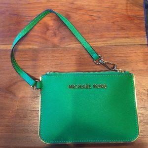 Michael Kors wristlet- green