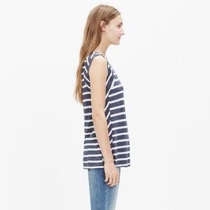 Madewell Anthem Inset Tank Top in Stripe