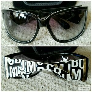 MARC JACOBS Scrambled Letters White Black Sunnies