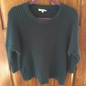 navy blue madewell sweater