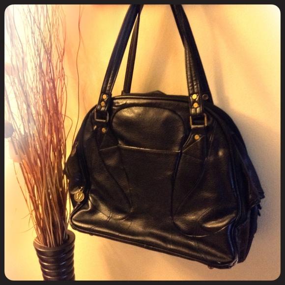 Lululemon Athletica Bags Lululemon Large Black Leather