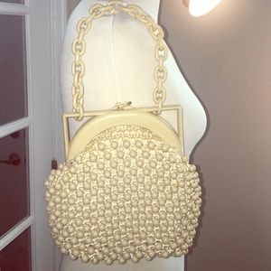 Vintage Beaded and Woven Mini Chain handle Bag