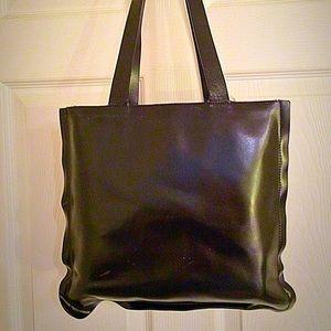 Black Leather Furla Bag