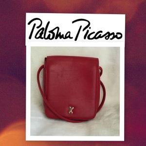 Paloma Picaso Handbags - Paloma Picaso Red Leather Crossbody Bag