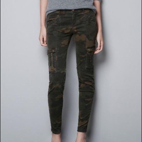 57f40f33 Zara camo skinny jeans. M_579fbeb8a88e7dd278002e14