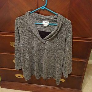 Link Sweaters - Dark gray 3/4 length sleeve sweater