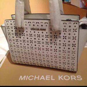 cb25a1b78633 Michael Kors Bags - Michael Kors Selma Floral-perforated