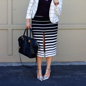 ASOS Black & White Striped Skirt