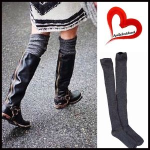 Boutique Accessories - Tall Boot Socks Thigh Highs Over Knee