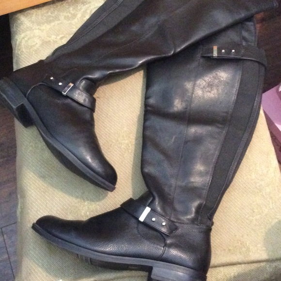 92ee4a857e0d Black wide calf over the knee high boots 7