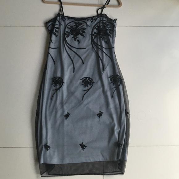 FAITH Couture by Michele Gonda Black Lace Dress size M