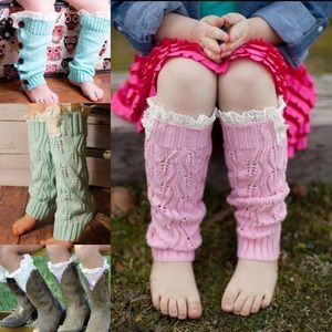 Other - 🔥1 HR SALE🔥 Girls Knit Ruffled Leg Warmers