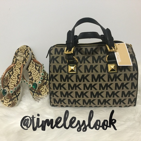 1b885ac4c3a7f8 Michael Kors Bags | Mk Greyson Black Speedy Stud Bag | Poshmark