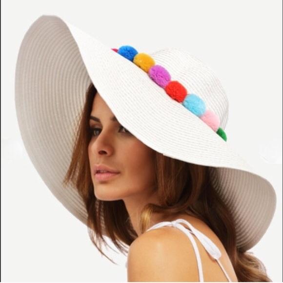 94d59e42a4278 Accessories - Pom Pom Floppy Hat