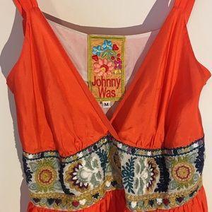 Johnny Was Dresses & Skirts - Johnny Was orange silk gorgeous dress