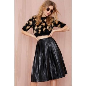 Nastygal Anarchy Party faux leather pleated skirt