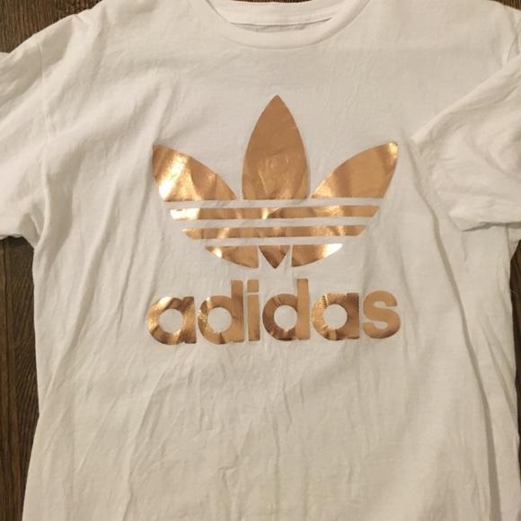 adidas t shirt rosegold