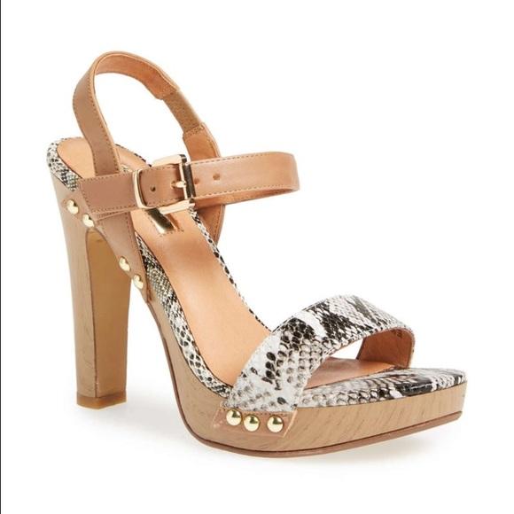 62a1087607b Halogen Viv natural snake print platform sandals