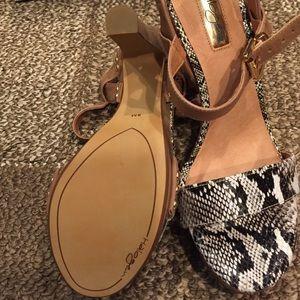 39419047e01 Halogen Shoes - Halogen Viv natural snake print platform sandals