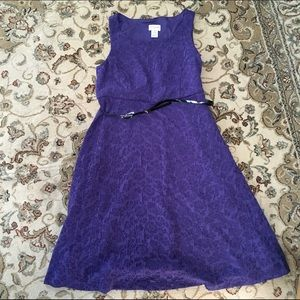 Purple Motherhood Maternity dress Belt included!!
