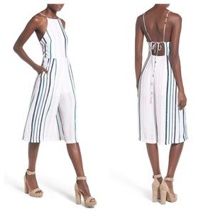 ASTR Summer Striped Jumpsuit SZ S