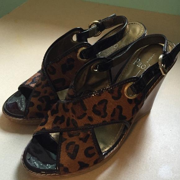 aef3a67ee799 Linea Paolo Shoes - Linea Paolo High-Heeled Wedge Sandals Sz 7
