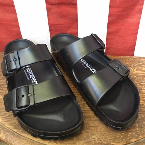 Birkenstock Shoes - Birkenstock Eva Arizona Black Rubber Sandals sz38 3f58e452fdd