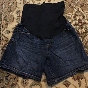 Dark blue Liz Lange maternity shorts