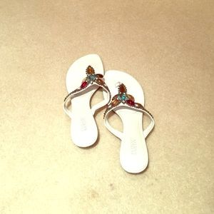 Shoes - Beaded Franco Sarto white sandals
