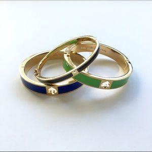 kate spade Jewelry - Kate Spade enamel hinge bracelet bangles, set of 3
