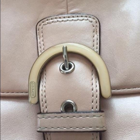 69 off coach handbags light pink leather coach cross. Black Bedroom Furniture Sets. Home Design Ideas