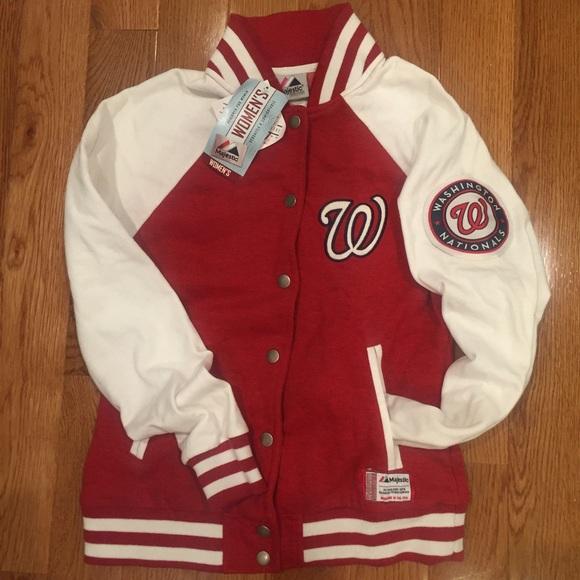 Mlb Washington Nationals Varsity Jacket Nwt