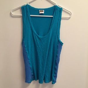Kings of Cole Tops - Turquoise Racerback Tank with Mesh Sides