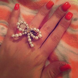Betsy Johnson Bow Ring