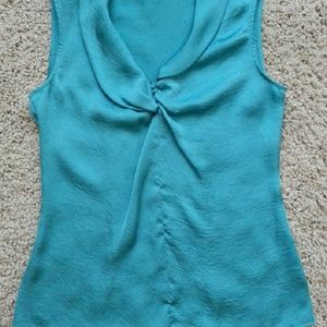 Violet & Claire Tops - Teal sleeveless blouse (size S)