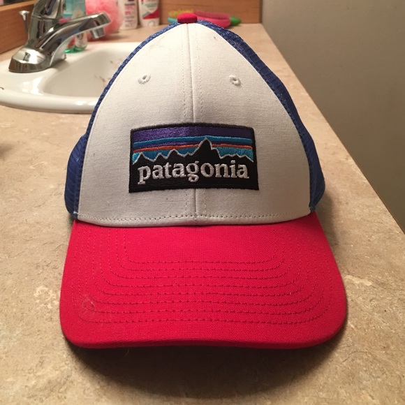 Red white and blue Patagonia hat 2f8573e7b03
