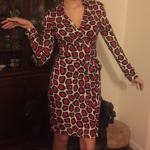 leopard wrap dress - Brown Diane Von Fürstenberg Clearance Buy Browse Buy Cheap From China Discount Official Shop 4N6yFA3q