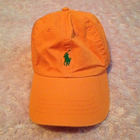 a7e918ce Orange Polo hat with dark green pony. M_579ffcff5c12f8843400a7e3. Other  Accessories you may like. Polo Ralph Lauren Hat