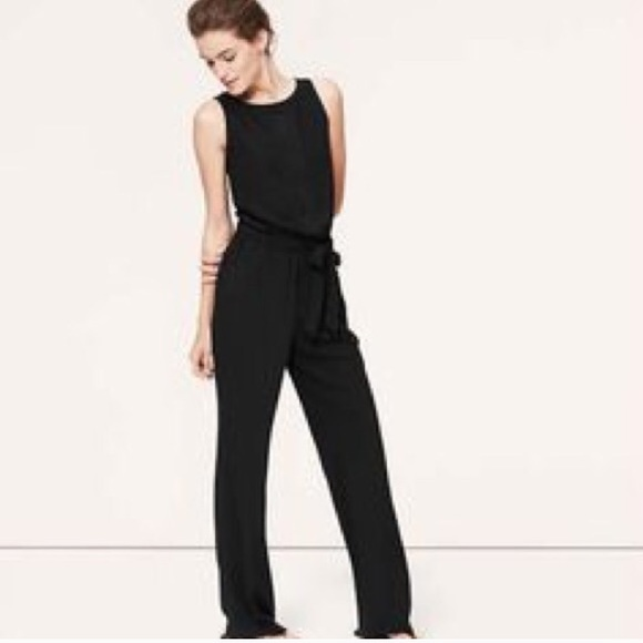 Loft Dresses Ann Taylor Black Tuxedo Jumpsuit Poshmark