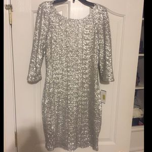 BRAND NEW Silver sequin party dress!