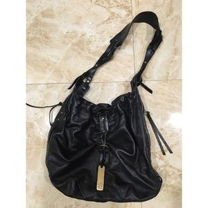 Botkier Black Leather Bucket Bag