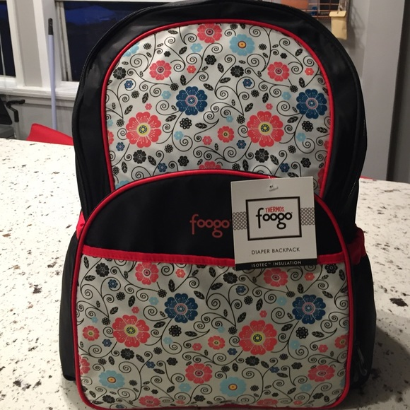 foogos thermos foogo backpack diaper bag poppy patch. Black Bedroom Furniture Sets. Home Design Ideas