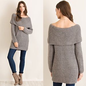 Off Shoulder Sweater Top