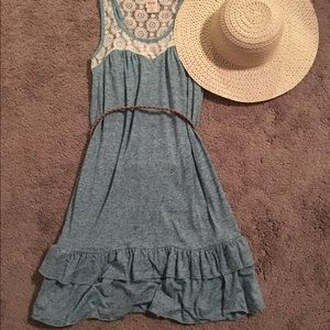 Lace accented summer dress