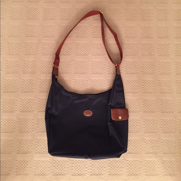 2952222e1326 Longchamp Handbags - Authentic Longchamp Navy nylon crossbody bag