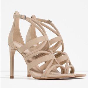 Zara Shoes - 🎉NWT Zara Wrap around high heel sandals!